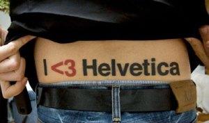 Helvetica tattoo
