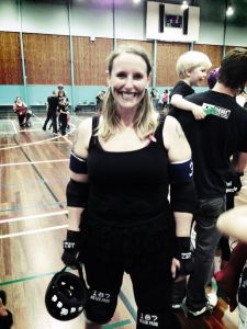 Meet Bebe McBash - one happy roller derby girl