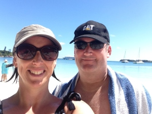 Enjoying some sun and sand at the Isle of Pines