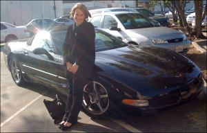 me, my jacket and the Corvette