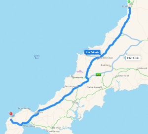 Bude to Land End, with a few stops along the way.