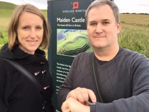 Maiden Castle Iron-Age hill fort