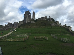 Corfe Castle, built by William the Conquerer and destroyed in 1645 after a long siege during the Civil War.