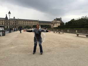 Lucky I came prepared for the rain! Rain capes are de rigueur in Paris (for tourists anyway)