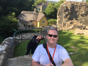 Goofing around at Farleigh Hungerford Castle