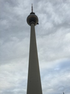 Second tallest in Europe. Build by the East Germans to show the West how awesome they were.  1000 steps from bottom to top - but there is an elevator you can catch up to the revolving restaurant in the bubble.