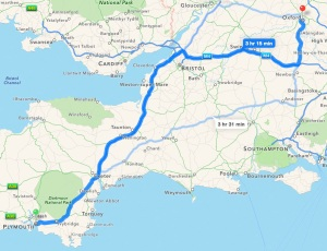 Plymouth to Oxford - a long way!